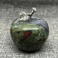 Natural dragon blood quartz apple crystal hand carved skull specimen healing 1pc