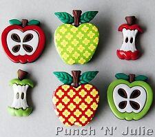 Apple Fascino ALBERO DA FRUTTO Core bambini della scuola rosso verde dress It Up Bottoni Craft