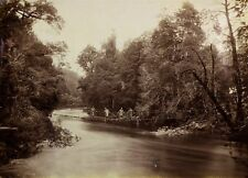 c1890 | JW BEATTIE | Flood on King River TASMANIA | large albumen photograph