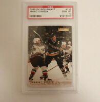 1995 SkyBox Impact Hockey #132 Mario Lemieux PSA 10 Pittsburgh Penguins