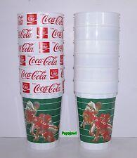 "Coca-Cola Party Cups NFL (12) Kansas City Chiefs Plastic Reuseable 5 1/2"" Tall"