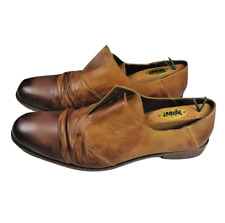 Initial Mens Shoes 10.5-11 Handcrafted Leather Art Slip on Loafer Special Design