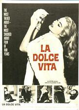 THE SWEET LIFE Movie POSTER 27x40 Marcello Mastroianni Anita Ekberg Anouk Aim e