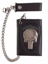 The Punisher Skull Logo Mens Biker Chain Wallet