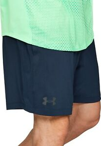 """Under Armour MK1 HeatGear Mens Training Shorts Blue 7"""" Fitted Gym Workout Short"""