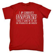 Funny Men's T-Shirts  Unsupervised Possibilities Endless t shirt tshirt birthday