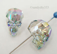1x SWAROVSKI 5750 Paradise Shine 13mm SKULL SPACER BEAD CRYSTAL