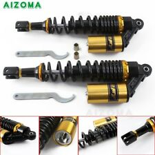 Gold 400mm Motorcycle Rear Air Shock Absorbers Suspension For Honda Suzuki US