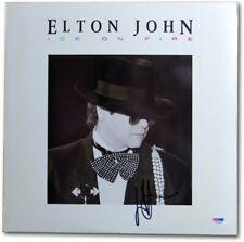 Elton John Signed Autographed Album Cover Ice on Fire Psa J12957