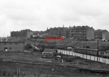 PHOTO  RUTHERGLEN RAILWAY STATION SOUTH SIDE 'BLUE TRAINS' PASSING AT RUTHERGLEN