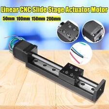 50 200mm Mini T6 Linear Guide Cnc Rail Sliding Stage Actuator Moto W