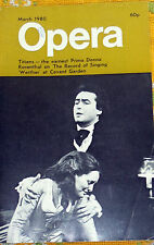 OPERA MAGAZINE, MARCH 1980, TITIENS, ROSENTHAL, WERTHER