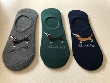 SAUSAGE/DACHSHUND/LONG DOG SOCKS/FOOTLETS/TRAINER..UK SIZE 4-8....BRAND NEW..