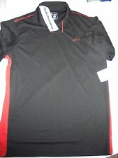Pizza Hut Employee Polo Golf Black & Red Uniform IQ Apparel Shirt Size medium