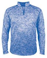 Badger Men's Self Fabric Block Blend Polyester Quarter Zip Winter Pullover. 4192