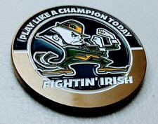More details for play like a champion today fightin' irish notre dame medallion medal us football