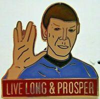 """Star Trek: Mister Spock """"Live Long and Prosper"""" Clossaine Pin"""