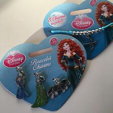 BNWT New DISNEY STORE Brave Merida Charm Bracelet Set Jewellery Genuine