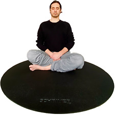 Schriner Pro Meditation Mat 4ft Round 8mm Thick Ultra Comfortable - Durable N...