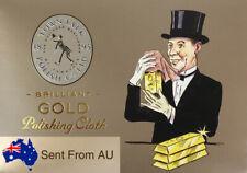 Gold Polishing Cloth 12.5 x 16.5 cm Town Talk Jewellery Cleaning Clean Polish