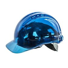 FRONTIER CLEAR VIEW SAFETY VENTED HELMET HARD HAT-JOB SITE APPROVED-BLUE