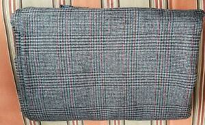 Wool Fabric Plaid Maroon/Rust/Blue/Black/Gray ~4 YDS 24 Inches  60 Inches Wide