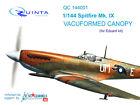 Quinta QC144001, 1/144 Spitfire Mk.IX vacuformed clear canopy 3 pcs for Eduard