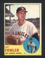 1963 Topps #454 Art Fowler VARIATION NM/NM+ Angels 89784