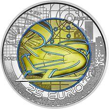 Österreich 25 Euro 2021 Mobilität der Zukunft Niob-Münze