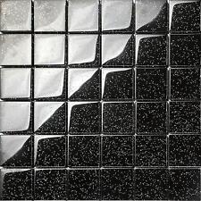 1 sq m noir paillettes galaxy mosaïque verre mur carrelage douche salle de bains bassin 0088