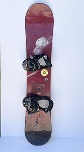 Burton Bullet 49 Snowboard Size 147 cm Drake Jade Bindings All Mountain