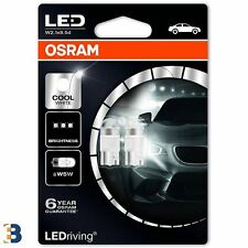 OSRAM LED Cool White W5W 24V 2824CW- 02B Interior Exterior Bulbs 6000K Blister