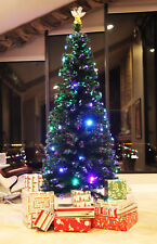 7.5 Ft Pre Lit Multi Color Led Fiber Optic Holiday Christmas Tree Angel Stand