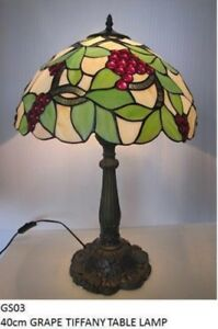 Grape Design Tiffany Table Lamp Hand Crafted 40cm RM27 GS03