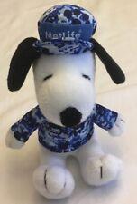 METLIFE SNOOPY Dog Blue Camo Hat Shirt Army Marine Plush Camoflauge