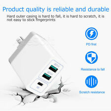 Portable 3-Port USB QC3.0 Wall Adapter Charger for Samsung Galaxy S8 SM-G950U