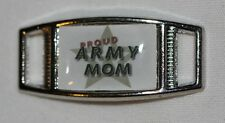 """""""Proud Army Mom"""" w/lg. star Rectangle shoelace charm (1) shoes/paracord"""