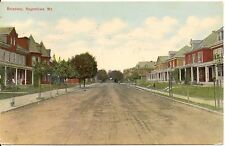View on Broadway In Hagerstown Maryland MD Postcard 1911