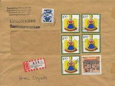 Einschreibebrief mit Weihnachtsmarken 1990,5 x 100+50 Pf Wohlfahrtsm 1991, 60+30
