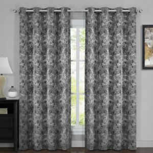100% Blackout Curtain Bali - Modern Upscaled Wallpaper Abstract Theme (Set of 2)