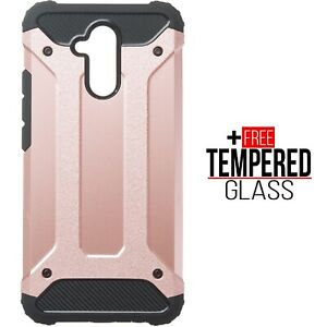 For Huawei Mate 20 Lite Hybrid Armor TPU Shockproof Bumper Heavy Case Cover Pink
