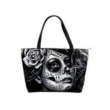 Classic Large Shoulder Bag Sugar Skull Tattoo Art Purse Day of the Dead Calavera