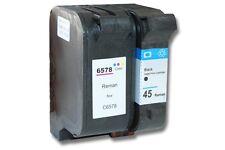 2x XXL CARTOUCHE ENCRE d'imprimante pour HP 45 78 Deskjet 990cxi / 995c / 1220c
