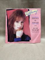 "Tiffany Feelings Of Forever & Out Of My Heart Promo 7"" Vinyl 45  Pop 1988. MME2"