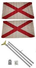 3x5 St. Patrick's Cross 2ply Flag Aluminum Pole Kit Set 3'x5'