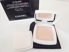 Chanel Le Blanc Whitening Compact Foundation Long Lasting Radiance #10 with case