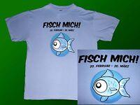 Funshirt  Sternzeichen T.-Shirt FISCH Gr. L/XL hellblau   NEU