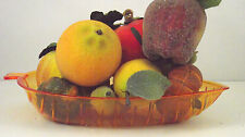Set 8 Icy Artificial Fruit Assortment Harvest Fall Table Decor Apple Pumpkin