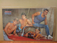 American male corvette Hot Guys ORIGINAL Vintage Poster 1987 5055