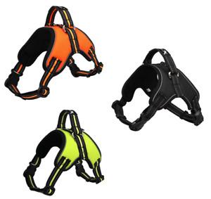 Reflective Non Pull Dog Harness Orange/Green/Black S/M/L